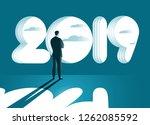 businessman standing in front... | Shutterstock .eps vector #1262085592