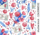 watercolor seamless pattern... | Shutterstock . vector #1262088532