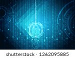 safety concept  closed padlock ...   Shutterstock . vector #1262095885