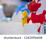 candle christmas and celebrity... | Shutterstock . vector #1262096608