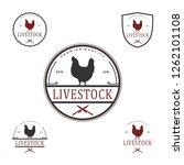 livestock logo vintage | Shutterstock .eps vector #1262101108