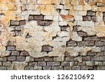 old bricks wall with cracked... | Shutterstock . vector #126210692