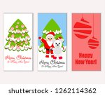 merry christmas and happy new... | Shutterstock .eps vector #1262114362
