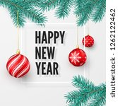 happy new year and merry... | Shutterstock .eps vector #1262122462