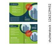 business bifold brochure  flyer ... | Shutterstock .eps vector #1262129452