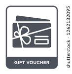 gift voucher icon vector on... | Shutterstock .eps vector #1262132095