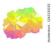 abstract polygon map   vector... | Shutterstock .eps vector #1262133232