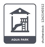 aqua park icon vector on white... | Shutterstock .eps vector #1262140312