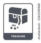 treasure icon vector on white... | Shutterstock .eps vector #1262140468