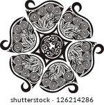 flower pattern black vector