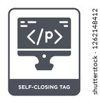 self closing tag icon vector on ...   Shutterstock .eps vector #1262148412