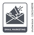 email marketing icon vector on... | Shutterstock .eps vector #1262148598