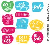 set of sale labels. hand drawn... | Shutterstock .eps vector #1262169772