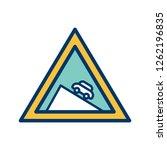 vector dangerous descent icon... | Shutterstock .eps vector #1262196835