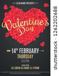 happy valentine's day flyer for ... | Shutterstock .eps vector #1262202688