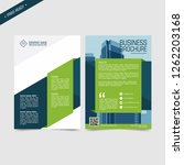 business bifold brochure or... | Shutterstock .eps vector #1262203168