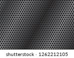 metal perforated 3d texture.... | Shutterstock .eps vector #1262212105