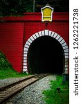 entrance of old railway tunnel... | Shutterstock . vector #1262221738
