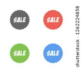 stickers for new arrival  sale... | Shutterstock .eps vector #1262224858