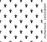 aloe housepot pattern seamless... | Shutterstock .eps vector #1262228365