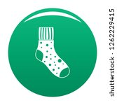 fluffy sock icon. simple... | Shutterstock .eps vector #1262229415