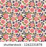 vintage floral background.... | Shutterstock .eps vector #1262231878