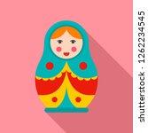 soviet nesting doll icon. flat... | Shutterstock .eps vector #1262234545