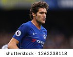 marcos alonso of chelsea  ... | Shutterstock . vector #1262238118