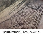 micro font on a hundred dollar ... | Shutterstock . vector #1262239315