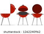 barbecue grill. isometric grill.... | Shutterstock .eps vector #1262240962