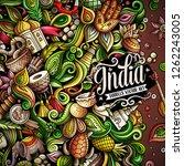 india hand drawn vector doodles ... | Shutterstock .eps vector #1262243005