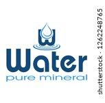 logo mineral water illustration ... | Shutterstock . vector #1262248765