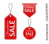 christmas sale price tag  label ... | Shutterstock . vector #1262249395