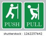 push door icon   pull door icon | Shutterstock .eps vector #1262257642