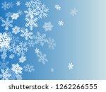 winter snowflakes border trendy ... | Shutterstock .eps vector #1262266555