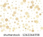 crystal snowflake and circle... | Shutterstock .eps vector #1262266558