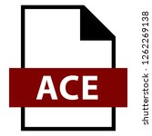 filename extension icon ace... | Shutterstock .eps vector #1262269138