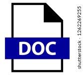 filename extension icon doc...   Shutterstock .eps vector #1262269255