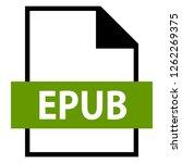 filename extension icon epub...   Shutterstock .eps vector #1262269375