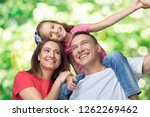 happy cheerful family on... | Shutterstock . vector #1262269462
