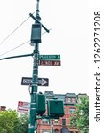Sign of Malcolm X Boulevard and Lenox Avenue in Harlem, Manhattan, New York City, USA