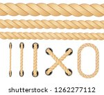 nautical rope. round and square ... | Shutterstock .eps vector #1262277112