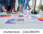 asian advertising designer...   Shutterstock . vector #1262280355