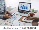 business casual team meeting... | Shutterstock . vector #1262281888