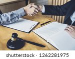 handshake after good... | Shutterstock . vector #1262281975
