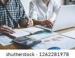 team work process  business... | Shutterstock . vector #1262281978