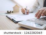 businessman working doing... | Shutterstock . vector #1262282065