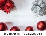 red giftbox ornament christmas... | Shutterstock . vector #1262283955