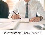 cropped shot of businessman... | Shutterstock . vector #1262297248