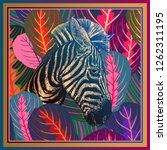animal print. head african... | Shutterstock .eps vector #1262311195